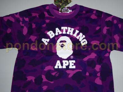A BATHING APE   bape color camo college purple tee  Pondon Store  03f7b58e55e5