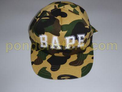 f9a576e7685 A BATHING APE   bape logo 1st camo yellow baseball cap  Pondon Store