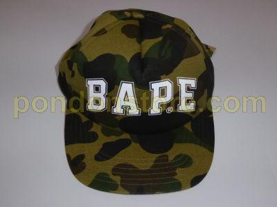 A BATHING APE   bape logo 1st camo green baseball cap  Pondon Store  88b2c43f68e