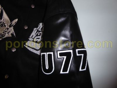 5b01c538 A BATHING APE : Bape vs Mo Wax Unkle Varsity jacket black [Pondon Store]