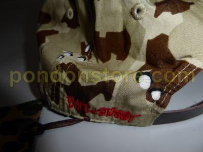 7d422186a37 A BATHING APE   bape x stussy Desert Camo Strapback Cap beige ...
