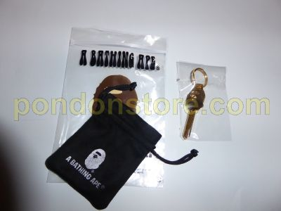 Details about  /BAPE A BATHING APE GOLD KEY With Key Ring