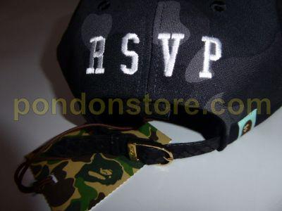 A BATHING APE   bape x RSVP just don 1st camo snake snapback cap black   Pondon Store  ac3f08ee5fb