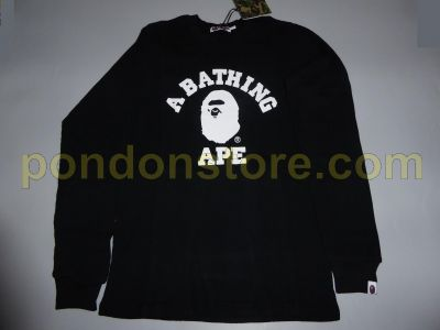 A Bathing Ape Black A BATHING APE  bape college