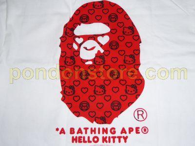 8c011efc721a A BATHING APE   bape x hello kitty milogram white tee  Pondon Store