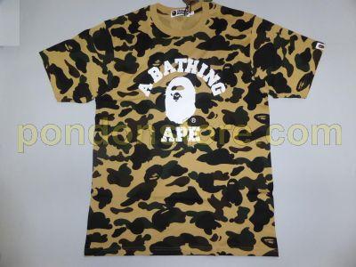 85930285 A BATHING APE : bape full 1st camo college yellow tee [Pondon Store]