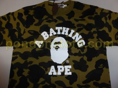 3a7a7412a1d9 A BATHING APE   bape full 1st camo college green tee  Pondon Store