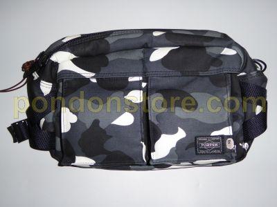 78b5282fb4a2 A BATHING APE   bape x porter waist bag city camo black  Pondon Store