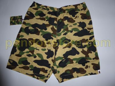 e06c75b606 A BATHING APE : bape 1st camo yellow beach pants [Pondon Store]