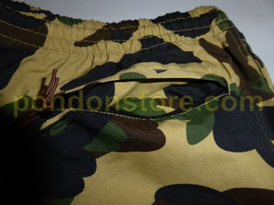 e06c75b606 A BATHING APE : bape 1st camo yellow beach pants [Pondon Store]