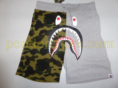 5824a9dca6d5 A BATHING APE   bape 1st camo shark sweat shorts gray  Pondon Store