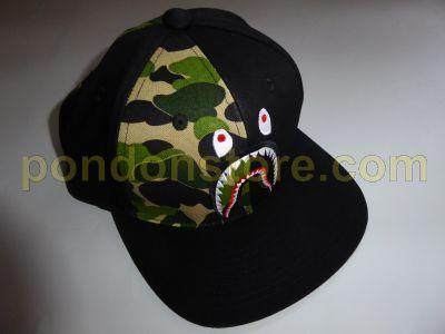 d3dff28d5ca9 A BATHING APE   bape abc shark snapback cap black  Pondon Store