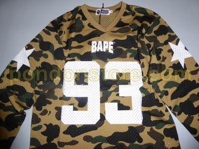 e29a4920 A BATHING APE : bape 1st camo mesh football long sleeve yellow tee ...