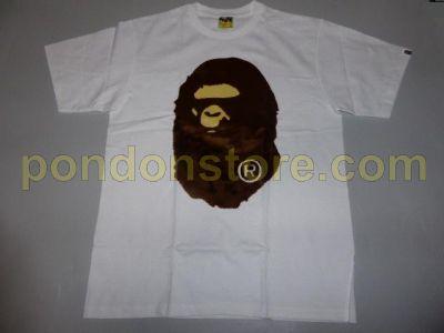 6d1b39bd A BATHING APE : bape boa patch big ape head white tee [Pondon Store]