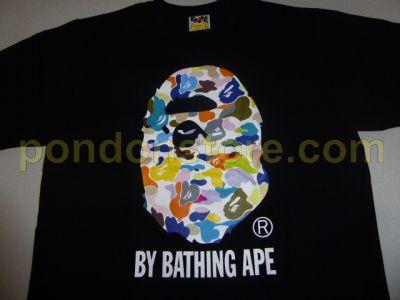 75957e19 A BATHING APE : bape abc multi camo by bathing black/white tee ...