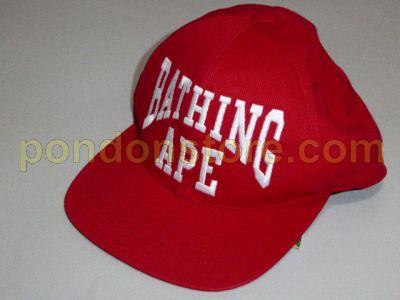 A BATHING APE   ( No 7601 ) bape NY leopard camo red snapback cap ... 304e3ef7027