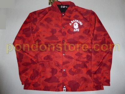 65626c6660ea A BATHING APE   bape color camo college coach jacket red  Pondon Store