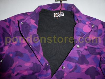 858ba5465039 A BATHING APE   bape color camo college coach jacket purple  Pondon Store