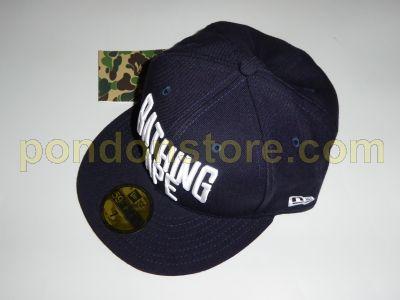 1892989ea42 A BATHING APE   bape NY logo new era cap navy  Pondon Store