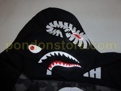 9ac139c37c20 A BATHING APE   bape x puma shark hoody black  Pondon Store