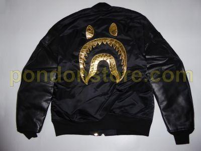 e070e542bf311 A BATHING APE   bape x dover black MA-1 jacket  Pondon Store